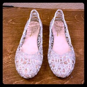 Jelly flats with glitter
